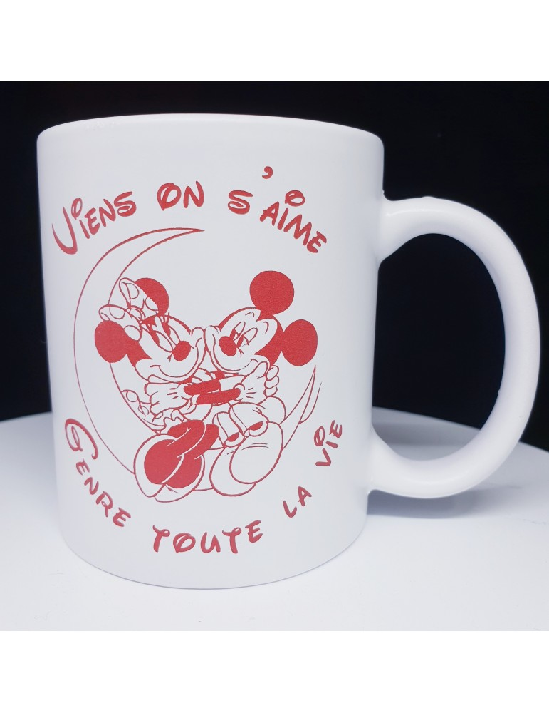 Mug Mickey Minnie personnalisable