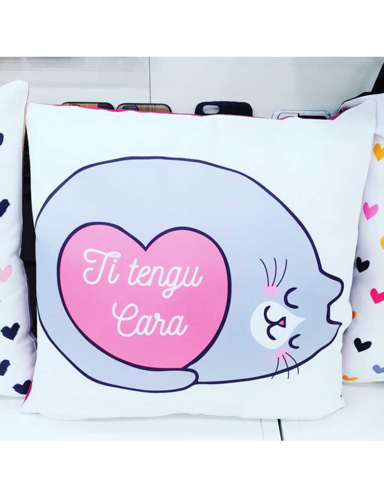 Coussin chat personnalisable