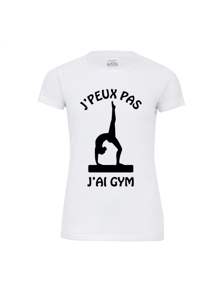 Tee-shirt j'peux pas j'ai gym