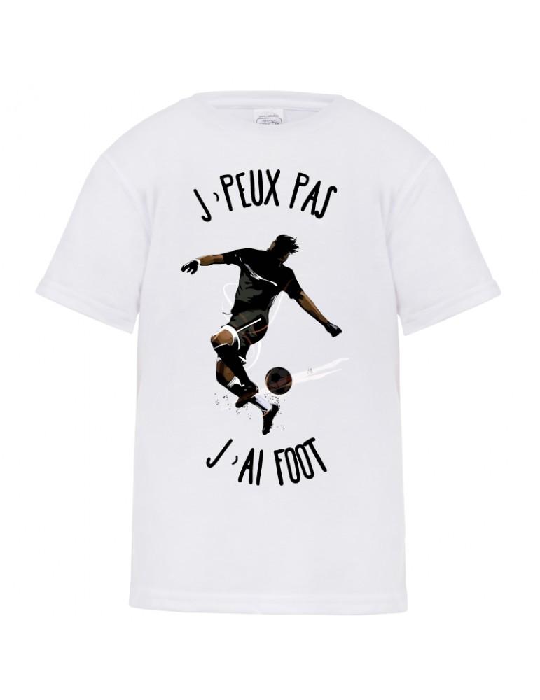 tee-shirt j'peux pas j'ai foot