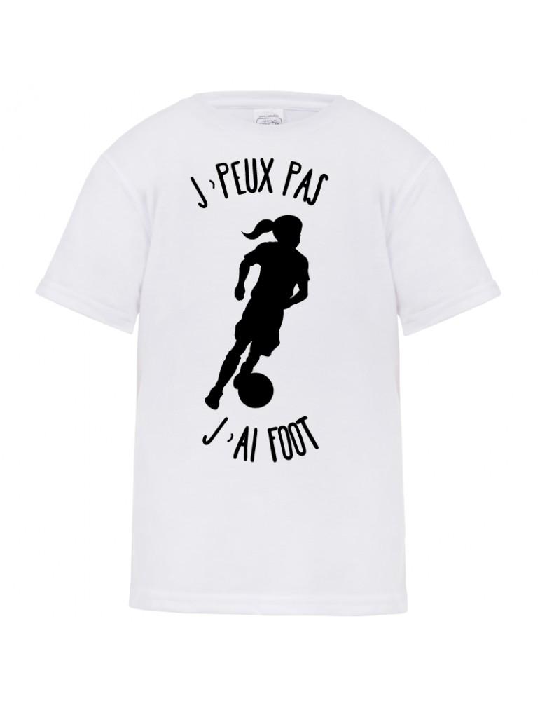 tee-shirt j'peux pas j'ai foot fille