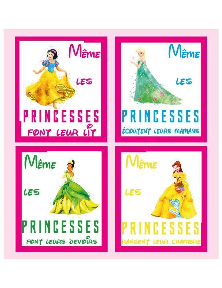 Poster princesses Disney 75cmx70cm