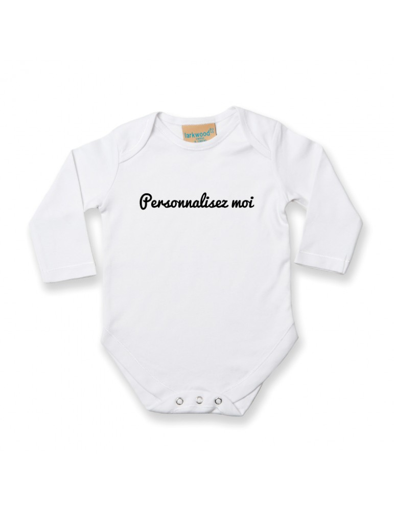 Body bébé blanc M-longues