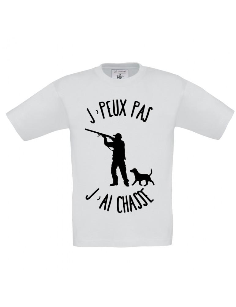 Tee-shirt j'peux pas j'ai chasse