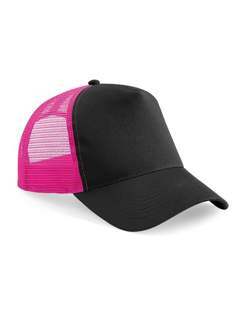 casquette noire et rose style base ball filet