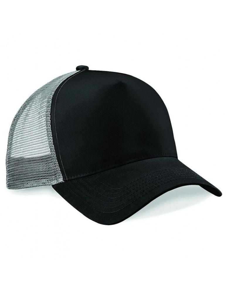 casquette filet personnalisable noire et grise