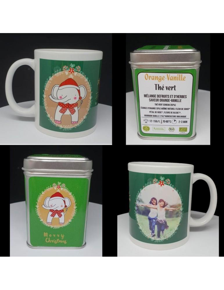 coffret thé vert de noël