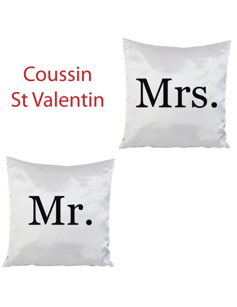Coussin Mr. and Mrs