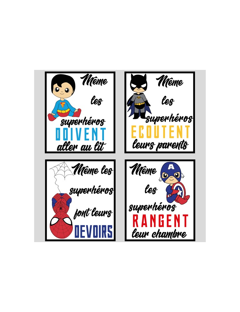 poster-super-héros-bébé