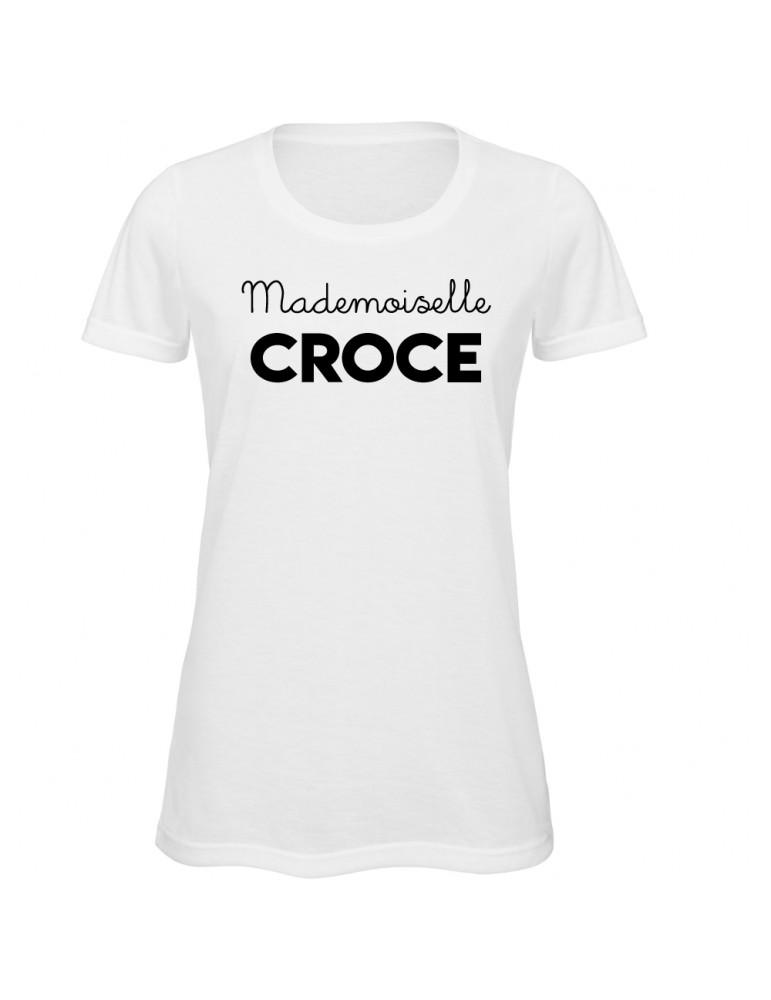 tee-shirt mademoiselle croce